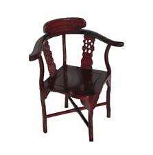 Vintage Hand Carved Rosewood Oriental Corner Chair