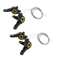 2 Pairs Bike Thumb Shifter Solid Road Bicycle Derailleur Cable Replacement