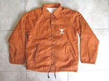 Vintage TEXAS LONGHORNS UT BEVO Logo Football Coach's Jacket Coat USED MED-Large