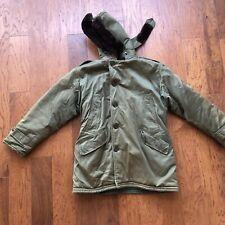 Vintage USAF Parka B-9 Type Down Jacket Size 44 1950s Talon Conmar Zipper Fur
