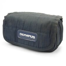 Original Olympus Superzoom Mju Compact Camera Bag Soft Blue Nylon Pouch Case