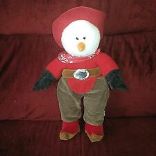 Aurora Cowboys Snowman Red Hat Shirt Boot Tops Brown Chaps Paisley Neckerchief