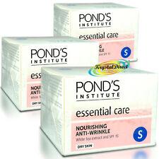 3x Ponds Anti Wrinkle Nourishing White Tea Extract Dry Skin Face Cream SPF15