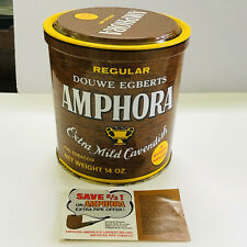 """VINTAGE 5 1/4"""" TALL DOUWE EGBERTS AMPHORA PIPE EMPTY TOBACCO TIN & PIPE OFFER"""