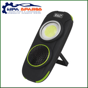 SEALEY WIRELESS SPEAKER WITH 10W LED RECHARGEABLE INSPECTION LAMP - 500 LUMENS