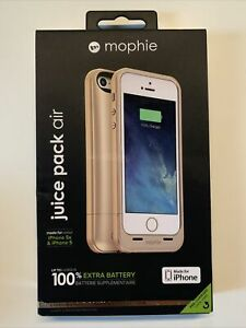 Mophie Juice Pack Air Power Case for iPhone SE/5/5s - Gold New In Box