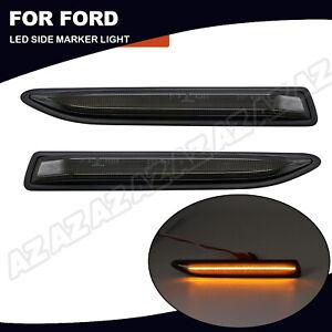 2X LED Seitenmarkierungsleuchte Blinker Für Ford Mondeo Mk4 2007-2015 Smoked