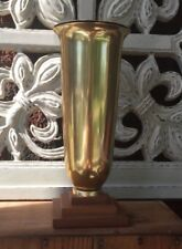 Beautiful Brass Vase  With Brass Liner-  Never Used!