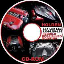 HOLDEN V8 LS1-LS2-LS3-L98-LQ4-LQ9-LSA V8 ENGINE REBUILD,REPAIR,MODIFING  CDROM
