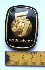 Weltmeister Emblem Logo Akkordeon ORIGINAL DDR /P21.9/20