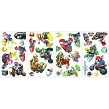34 New Nintendo MARIO KART Wii Wall Decals Boys Game Room Race Car Sticker Decor