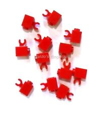 4x Brique Brick Modified 1x1 horizontal Clip rouge//red 60476 NEUF Lego