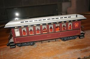 RF33] LGB 3080 Gauge G US Passenger Car Pennsylvania Braun With Interior Light