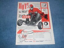 "1960 ""Lil"" 500 Go-Cart Vintage Ad ""HOT!...and so's the PRICE!"" GO Kart"