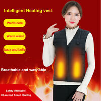 Unisex Electric USB Heated Heating Pad Vest Winter Warm Up Jacket Warmer V Neck