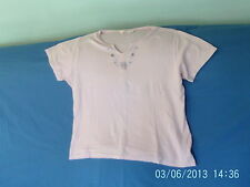 Womens Size 18-20 - Pink T-Shirt Top, Floral Embroidery - EWM