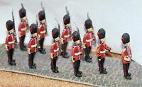 10 Guards marching - OO/HO gauge unpainted figures Langley F12