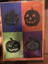 PAPYRUS Halloween card NIP FOIL PUMPKIN CARD MSRP $5.95