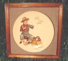Norman Rockwell Plate Vintage 1958 -1971 Large 10-3/4 Plate On Nice Frame
