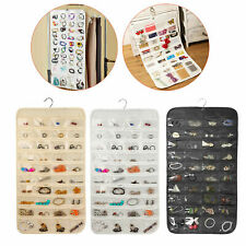 80 Pockets Closet Hanging Jewelry Organizer Storage Earring Display Pouch Bag
