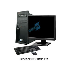 "PC COMPUTER POSTAZIONE COMPLETA IBM LENOVO THINK CENTRE INTEL LCD 15"" 2GB WIN XP"