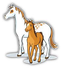 Horse Family Car Bumper Sticker Decal 5'' x 5''