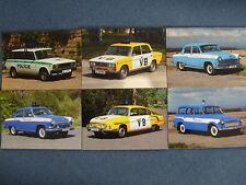 Czech Police Car Postcards @ 6: Tatra 603 GAZ Volga M21 Lada Skoda Postkarten