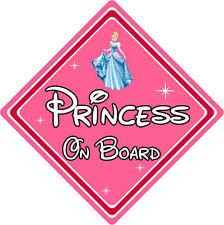 Disney Princess On Board Car Sign – Baby On Board Car Sign – Cinderella