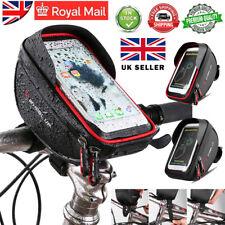 Waterproof MTB Bike Frame Front Bag Pannier Bicycle Phone Touch Screen Holder UK