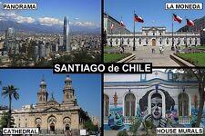 SOUVENIR FRIDGE MAGNET of SANTIAGO CHILE