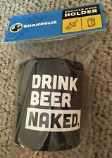 Black Shakoolie Shower Beer Holder with Drink Beer Naked Printed on the Koolie