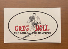 * GREG NOLL  Surf Boards and Film Productions* Surfing Decal Transfer*