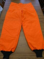 Sears Ted Williams Blaze Orange Outdoor Winter Hunting Insulated Pants 40x32 VG