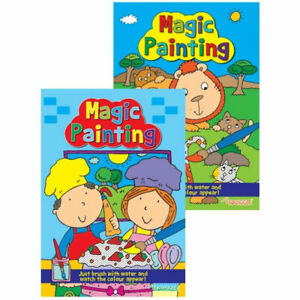 Magic Painting Book - A4 Kids Colouring Art Children No Mess Just Use Water