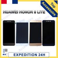 ECRAN LCD +VITRE TACTILE+POUR HUAWEI HONOR 8 LITE NOIR/ BLANC/ OR/ BLEU + OUTILS