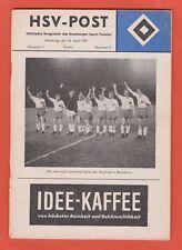 Orig.PRG   EC 1  1960/61   HAMBURGER SV - FC BARCELONA   1/2 FINALE  !!  RARITÄT