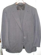 STANLEY BLACKER Dark Gray, Plaid Business Suit, 40R, Pants 38 x 29