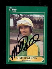 MICHAEL MIKE ROWLAND *DECEASED* Turfway Park Horse Jockey 1991 SIGNED Card