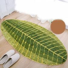 40x60cm Green Polyester Leaves Mats Non-slip Mats Pads For Kitchen Bathroom