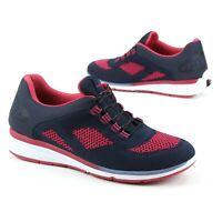 NEW Zerotie Fresh Breeze Lace Up Sneakers Womens Sz 10 Hands Free Navy Blue Pink