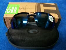COSTA DEL MAR C-MATE GALVESTON BLACK FRAME BLUE MIRROR LENS 1.50 NIB READER