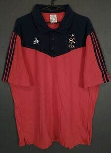 MEN'S ADIDAS FRANCE 2008/2009 SOCCER FOOTBALL SHIRT JERSEY MAILLOT RED SIZE XL