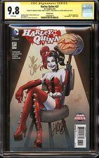Harley Quinn #27 JRJR variant CGC 9.8 SS Signed Conner, Palmiotti, Romita Jr +1