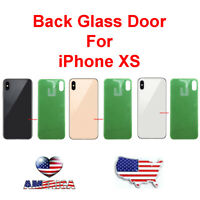 OEM Battery Cover Glass Housing Rear Back Door W/ Lens Replacement For iPhone XS