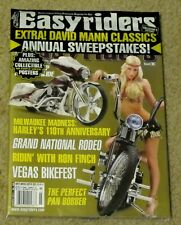 EASYRIDERS Sexy BIKER GIRLS March 2014 + Free DAVID MANN CLASSICS 110th HARLEY