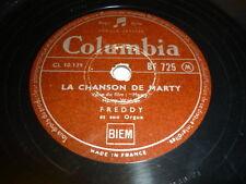 FREDDY 78 TOURS RPM FRANCE SUR MA VIE AZNAVOUR