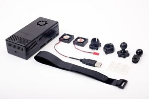 V2 Black Case Dual Fans for Stratux ADS-B Kit Fits AHRS Module and GPYes