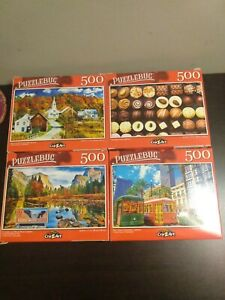 Puzzlebug 500 pieces Jigsaw Puzzle Lot