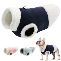 Small Medium Dog Cat Clothes Warm Fleece Winter Coat Jacket Walking Vest Harness