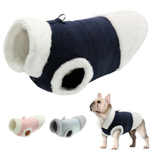 Small Medium Dog Cat Clothes Warm Fleece Winter Coat Jacket Walking Vest Harness